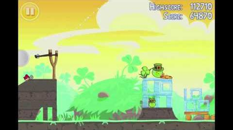 Angry Birds Seasons Go Green, Get Lucky 3 Star Walkthrough Level 7