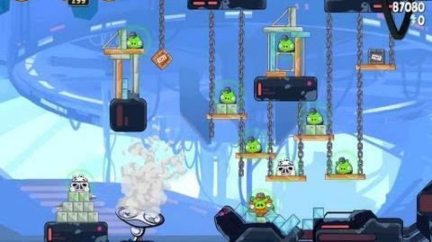 Angry Birds Star Wars 4-25 Cloud City 3 Star Walkthrough