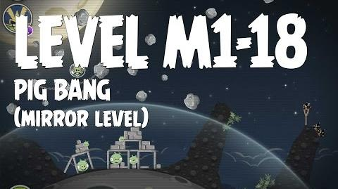Angry Birds Space Pig Bang Level M1-18 Mirror World Walkthrough 3 Star