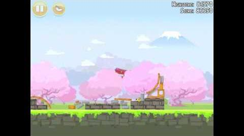 Angry Birds Seasons Cherry Blossom 1-3 Walkthrough 2012 3 Star