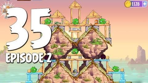 Angry Birds Stella Level 35 Episode 2 Beach Day Walkthrough