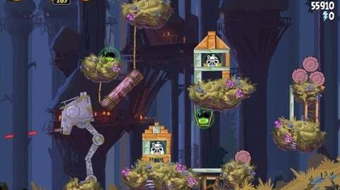 Angry Birds Star Wars 5-25 Moon of Endor 3 Star Walkthrough