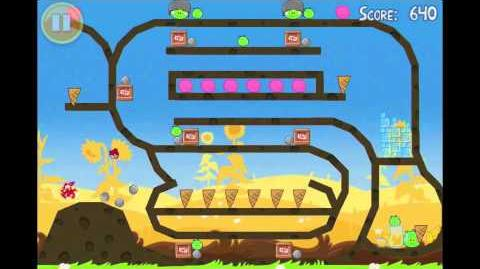 Angry Birds Seasons Summer Pignic Golden Egg 21 Walkthrough