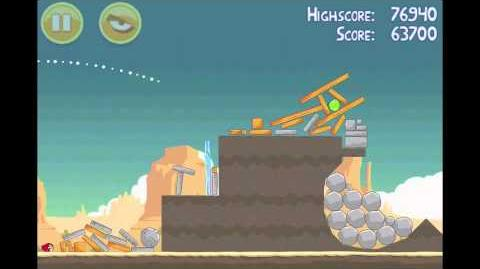 Angry Birds Ham 'Em High 3 Star Walkthrough Level 14-11