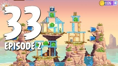 Angry Birds Stella Level 33 Episode 2 Beach Day Walkthrough