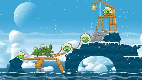 Angry Birds Seasons Arctic Eggspedition 1-2 Walkthrough 3 Star