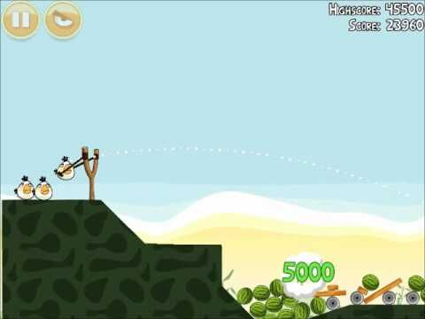 Official Angry Birds Walkthrough Poached Eggs 2-14