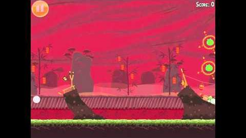 "Angry Birds Seasons Year of the Dragon Golden Egg 30 Walkthrough ""Big Banner"" 2012"