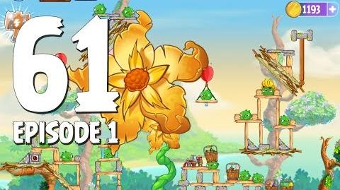 Angry Birds Stella Level 61 Giant Gold Flower Walkthrough Branch Out Episode 1
