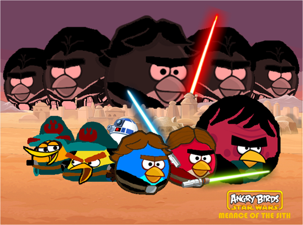image angry birds star wars menace of the sith