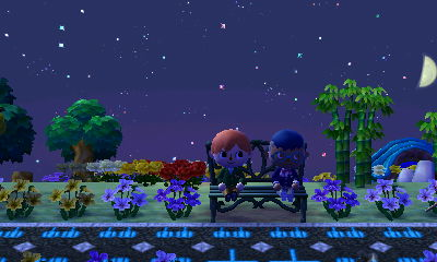 File:Sitting on a Bench With Another Player.jpg