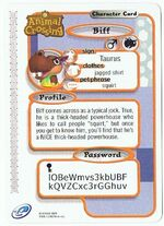 The Back of Biff's E-Reader Card