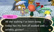 Talking to Alice in the Rain