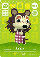 Amiibo card AnimalCrossing 04 Sable japanese