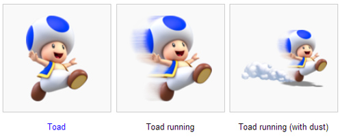 Toad in three pictures