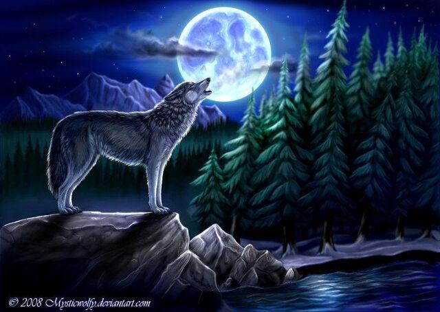 Wolf Moon Drawing Wolf-moon