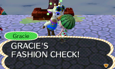 File:Gracie introducing the Fashion Check.JPG