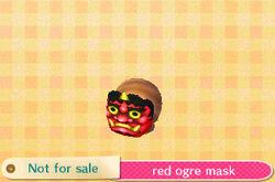 Red ogre mask