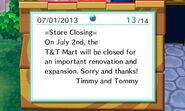 T&T Mart Closing Notice