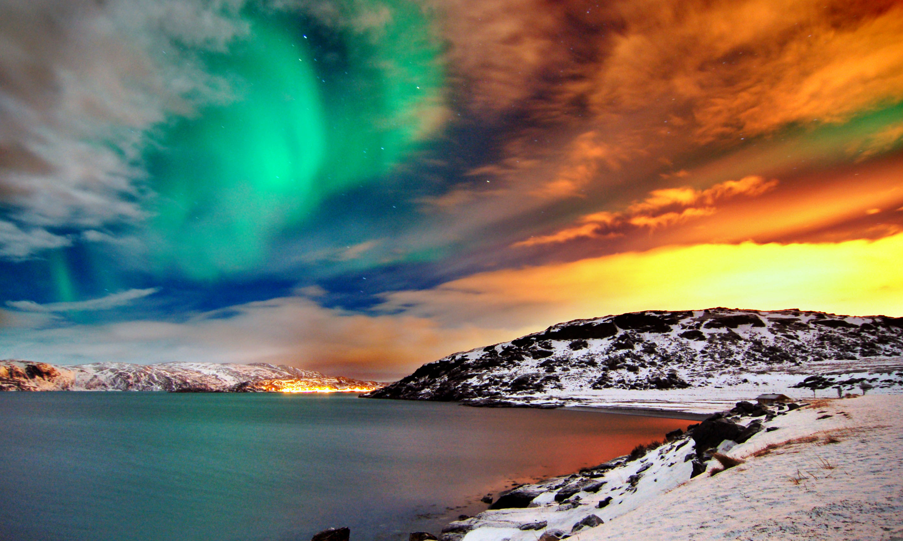 Northern Lights Norway Wallpaper Full Resolution‎