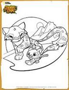 Snowleopardcoloringpage