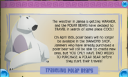 Polar bears are leaving