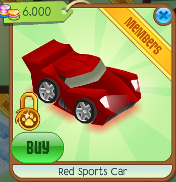 Red Sports Car Animal Jam