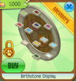 Birthstone Display