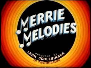 Merrie Melodies classic title card
