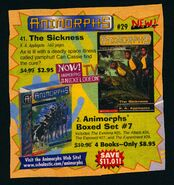 Animorphs 29 the sickness book orders ad