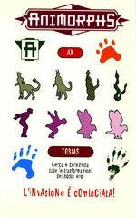 Animorphs 29 the sickness la malattia italian stickers adesivi