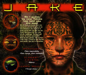 Animorphs 1999 calendar july jake