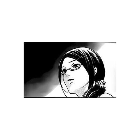 Mikami-sensei in the manga. Unlike the anime, in the manga Reiko puts her hair <i>up</i> when she's teaching class.
