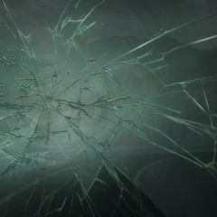 Glass shatters.