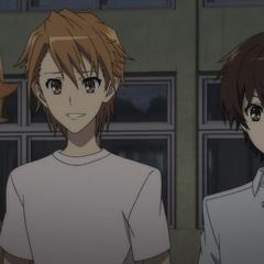 The main male characters: Naoya, Kouichi, and Yuuya.