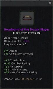 Headband of the kozak slayer
