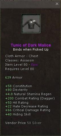 Tunic of dark malice