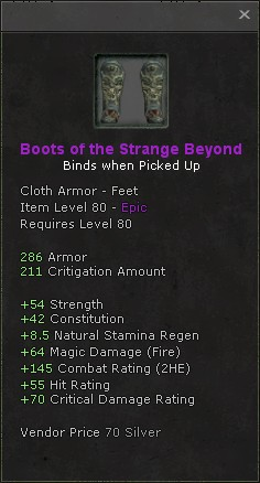 Boots of the strange beyond