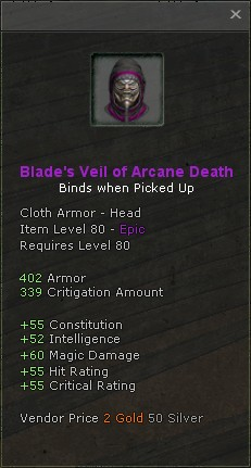 Blades veil of arcane death