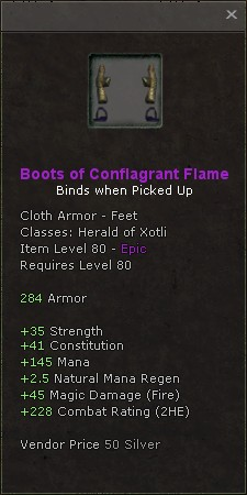 Boots of conflagrant flame