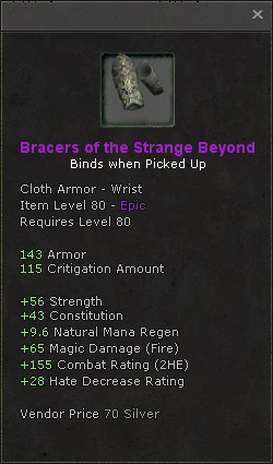 Bracers of the strange beyond