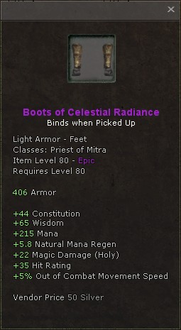 Boots of celestial radiance