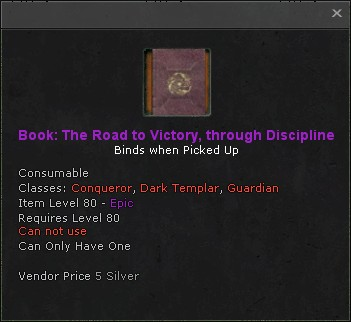Book the road to victory through discipline