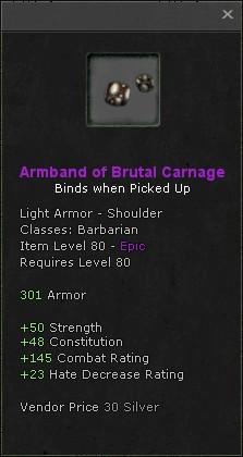 Armband of brutal carnage