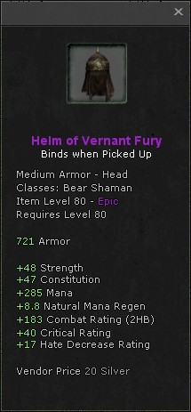 Helm of vernant fury