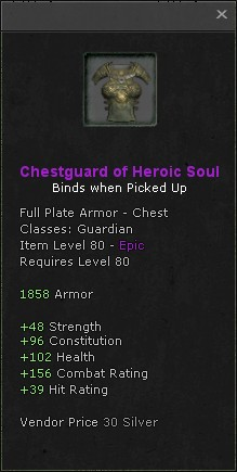 Chestguard of heroic soul