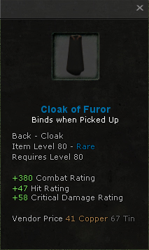 Cloak of Furor group
