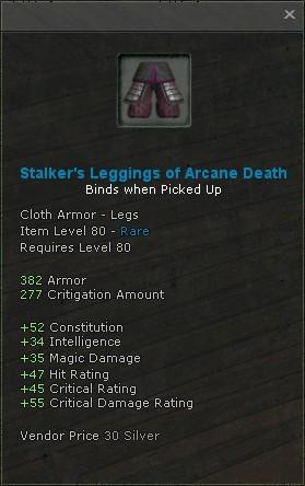 Stalkers leggings of arcane death