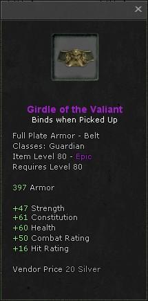 Girdle of the valiant