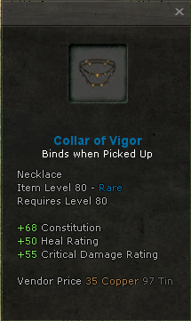 Collar of vigor